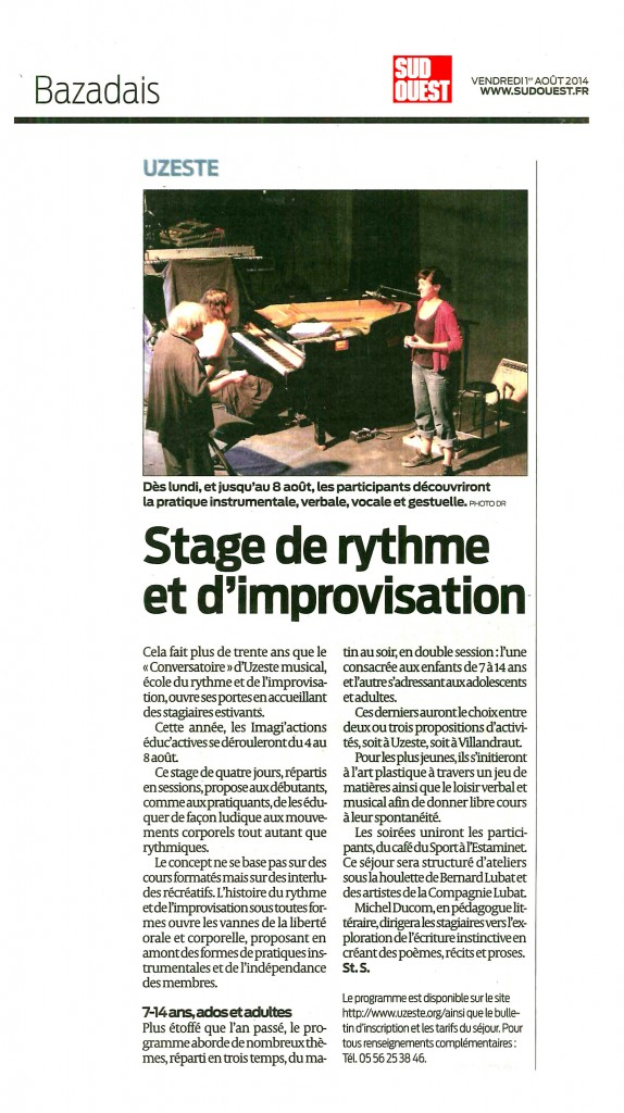 stages août 2014